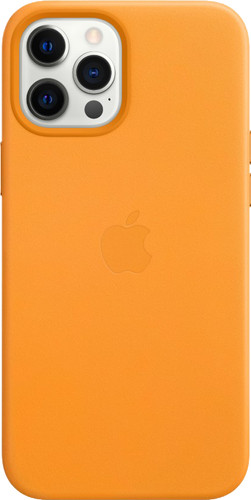 Apple iPhone 12 Pro Max Back Cover met MagSafe Leer California Poppy Main Image