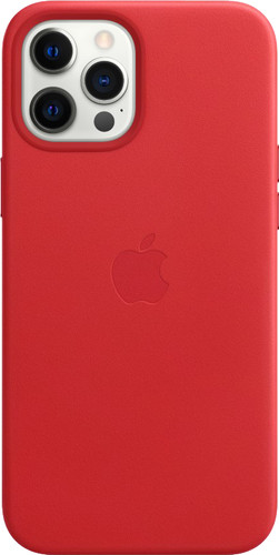 Apple iPhone 12 Pro Max Back Cover met MagSafe Leer RED Main Image