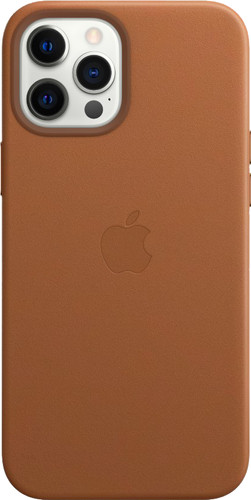 Apple iPhone 12 Pro Max Back Cover met MagSafe Leer Zadelbruin Main Image