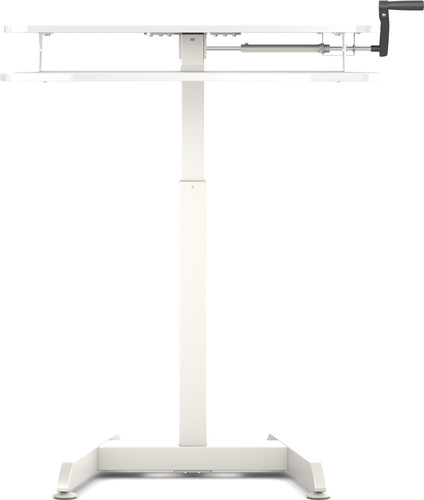 Worktrainer Small Hand Crank Sit-Stand Desk 80x40 White Main Image