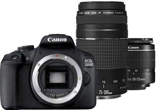 Canon EOS 2000D + EF-S 18-55mm f/3.5-5.6 DC III + EF 75-300mm f/4-5.6 DC III Main Image