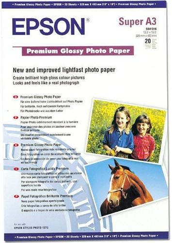 Epson Premium Glossy Fotopapier 20 vel (A3+) Main Image