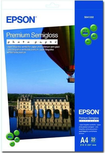 Epson Premium Semigloss Fotopapier 20 vel (A4) Main Image