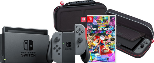 Game onderweg pakket - Nintendo Switch (2019 Upgrade) Grijs Main Image