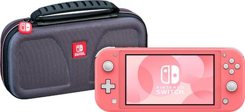 Nintendo Switch Lite Koraal + Bigben Officiële Nintendo Switch Lite Beschermtas Main Image