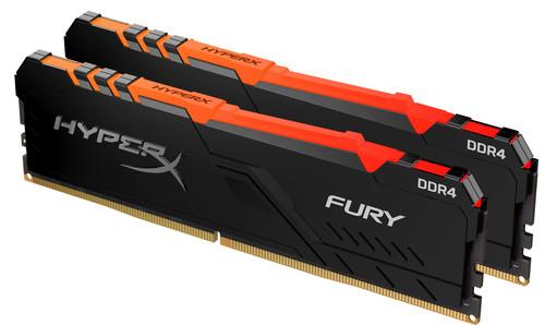 Kingston HyperX 32GB 3200MHz DDR4 CL16 DIMM (Kit of 2) Fury RGB Main Image