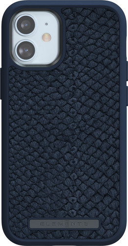 Nordic Elements Njord Apple iPhone 12 mini Back Cover Leer Blauw Main Image