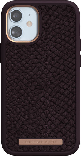 Nordic Elements Njord Apple iPhone 12 mini Back Cover Leer Paars Main Image