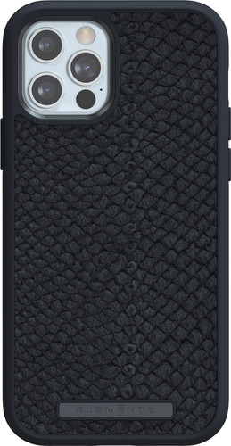Nordic Elements Njord Apple iPhone 12 / 12 Pro Back Cover Leer Grijs Main Image