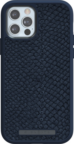 Nordic Elements Njord Apple iPhone 12 / 12 Pro Back Cover Leer Blauw Main Image