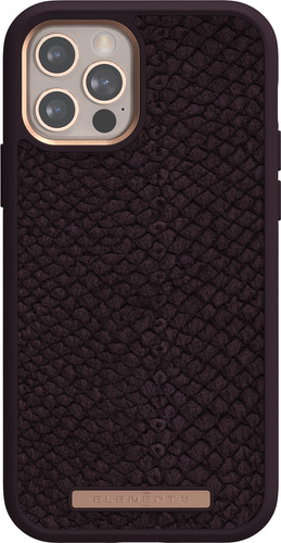 Nordic Elements Njord Apple iPhone 12 / 12 Pro Back Cover Leer Paars Main Image