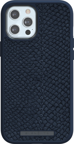 Nordic Elements Njord Apple iPhone 12 Pro Max Back Cover Leer Blauw Main Image