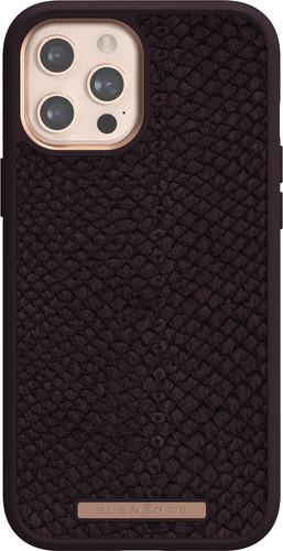 Nordic Elements Njord Apple iPhone 12 Pro Max Back Cover Leer Paars Main Image