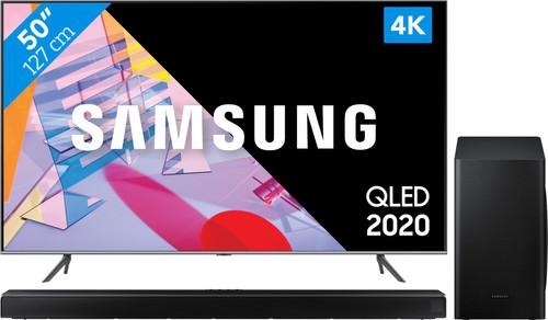 Samsung QLED 50Q64T + Soundbar Main Image