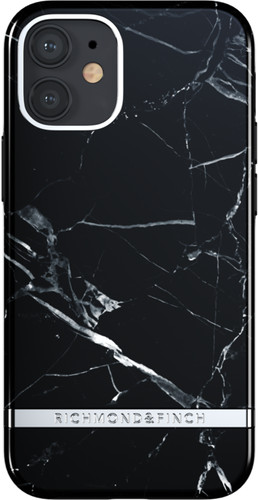 Richmond & Finch Black Marble Apple iPhone 12 mini Back Cover Main Image