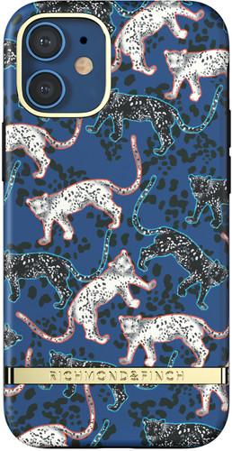Richmond & Finch Blue Leopard Apple iPhone 12 mini Back Cover Main Image