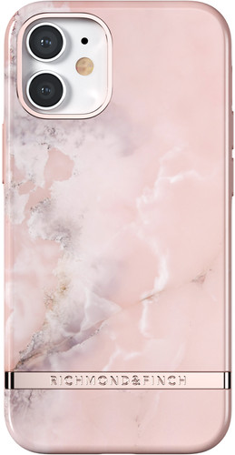 Richmond & Finch Pink Marble Apple iPhone 12 mini Back Cover Main Image