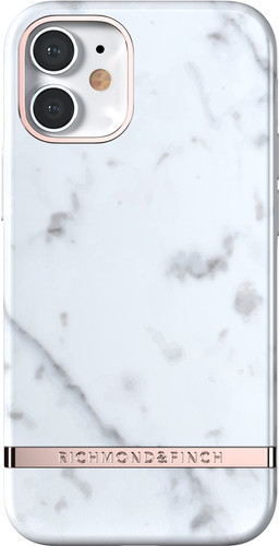 Richmond & Finch White Marble Apple iPhone 12 mini Back Cover Main Image