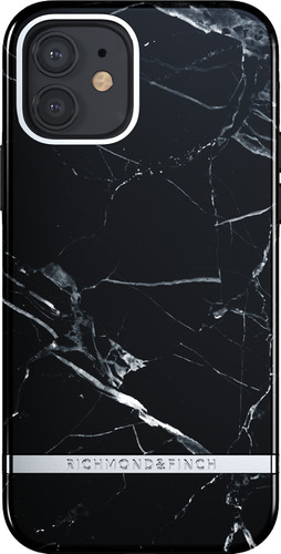 Richmond & Finch Black Marble Apple iPhone 12 / 12 Pro Back Cover Main Image