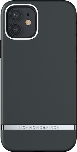 Richmond & Finch Black Out Apple iPhone 12 / 12 Pro Back Cover Main Image