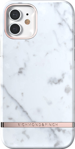 Richmond & Finch White Marble Apple iPhone 12 / 12 Pro Back Cover Main Image