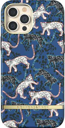 Richmond & Finch Blue Leopard Apple iPhone 12 Pro Max Back Cover Main Image