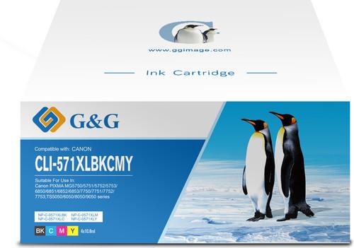 G&G CLI-571XL Cartridges Combo Pack Main Image