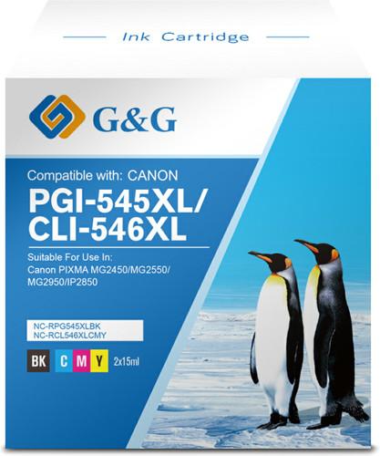 G&G PG-545XL/CL-546XL Cartridges Combo Pack Main Image