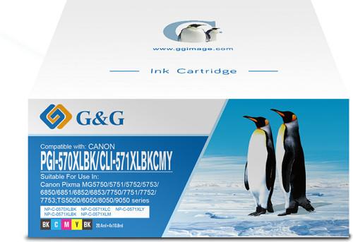 G&G PGI-570/CLI-571XL Cartridges Combo Pack Main Image