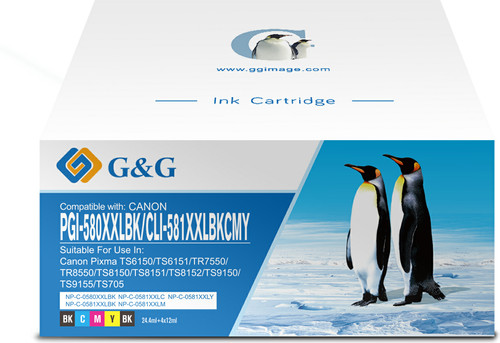 G&G 580XXL/581XXL Cartridges Combo Pack Main Image