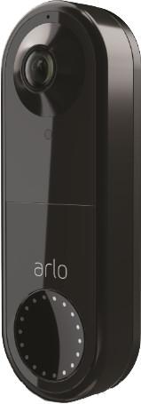 Arlo Wired Video Doorbell Zwart Main Image