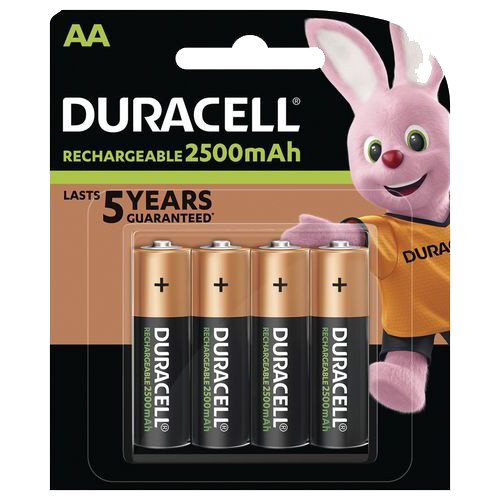 Duracell Recharge Ultra AA batteries 4 pieces Main Image