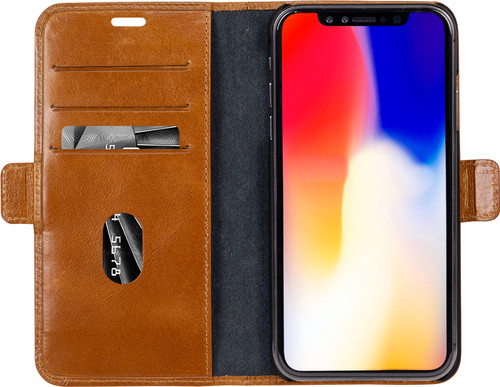 DBramante1928 Copenhagen Slim Apple iPhone Xs Max Book Case Leer Bruin Main Image