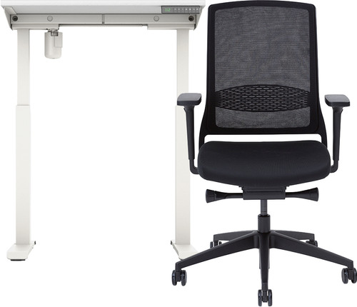 Worktrainer StudyDesk Sit-Stand Desk 80x80 + Gispen Desk Main Image