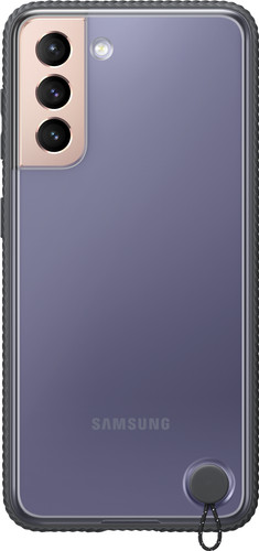 Samsung Galaxy S21 Clear Protective Back Cover Black Main Image