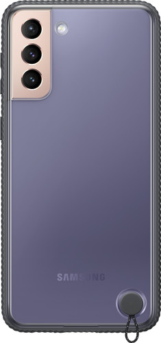 Samsung Galaxy S21 Plus Clear Protective Back Cover Zwart Main Image