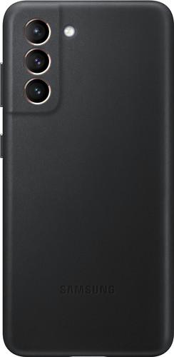 Samsung Galaxy S21 Back Cover Leer Zwart Main Image