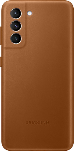Samsung Galaxy S21 Back Cover Leather Brown Main Image