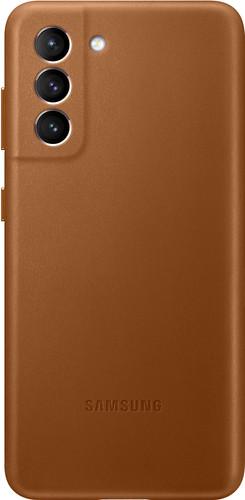 Samsung Galaxy S21 Back Cover Leer Bruin Main Image