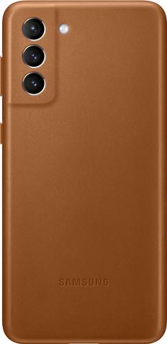 Samsung Galaxy S21 Plus Back Cover Leer Bruin Main Image
