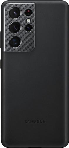 Samsung Galaxy S21 Ultra Back Cover Leer Zwart Main Image
