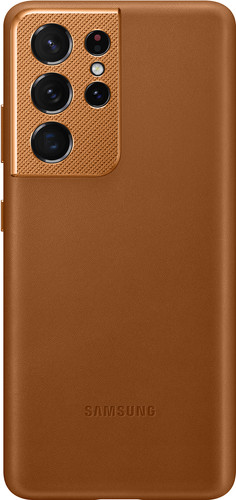 Samsung Galaxy S21 Ultra Back Cover Leather Brown Main Image