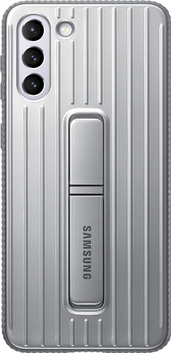 Samsung Galaxy S21 Plus Protective Standing Back Cover Grijs Main Image