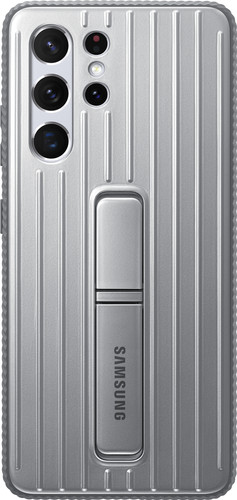 Samsung Galaxy S21 Ultra Protective Standing Back Cover Grijs Main Image