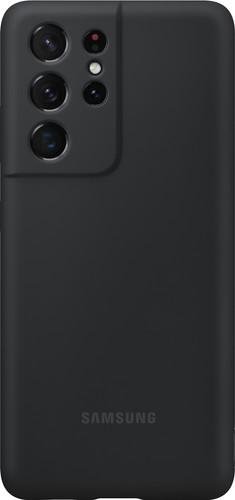 Samsung Galaxy S21 Ultra Siliconen Back Cover Zwart Main Image