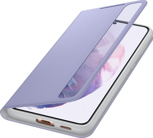 Samsung Galaxy S21 Plus Clear View Book Case Paars Main Image