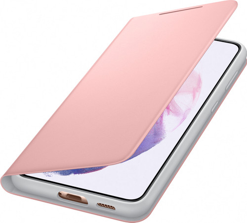 Samsung Galaxy S21 Plus Led View Book Case Roze Main Image