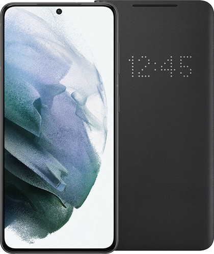 Samsung Galaxy S21 256GB Grijs 5G + Samsung Smart Led View Cover Zwart Main Image