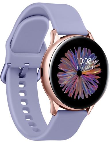 Samsung Galaxy Watch Active2 Roségoud/Paars 40 mm Aluminium left side