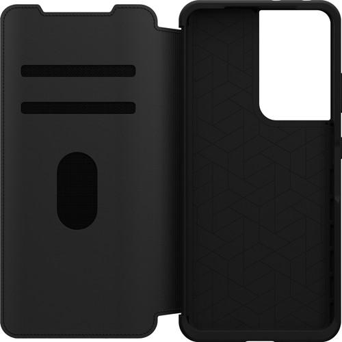 Otterbox Strada Samsung Galaxy S21 Ultra Book Case Leer Zwart Main Image